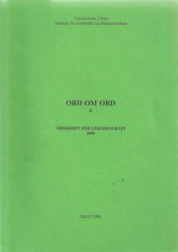 Årsskrift for leksikografi 2000