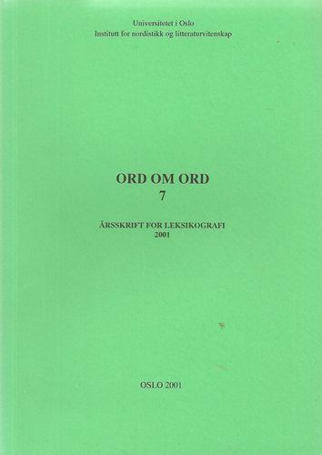 Årsskrift for leksikografi 2001