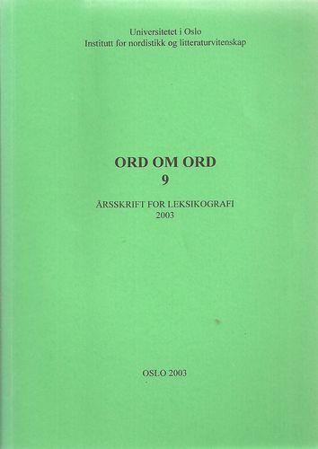 Årsskrift for leksikografi 2003