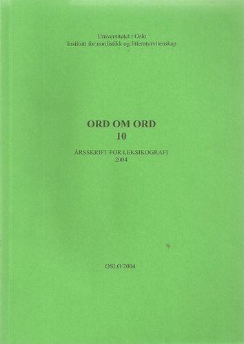 Årsskrift for leksikografi 2004