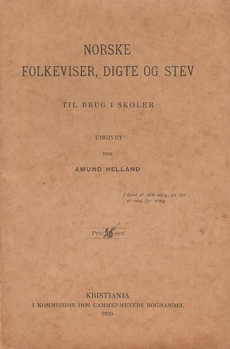 Norske folkeviser, digte og stev. Til brug i skoler