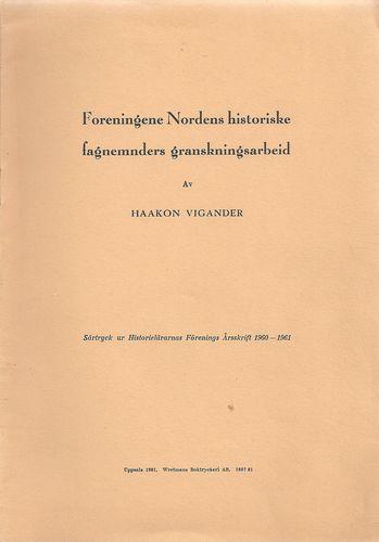 Foreningene Nordens historiske fagnemnders granskningsarbeid. Särtryck…