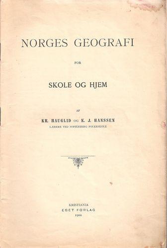 Norges geografi for skole og hjem