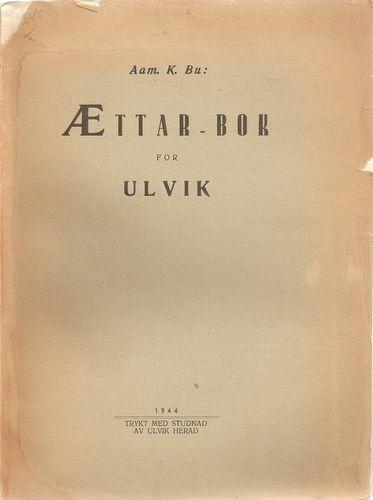 Ættarbok for Ulvik