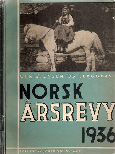 Norsk Årsrevy 1936. Billedred. Kari Berggrav