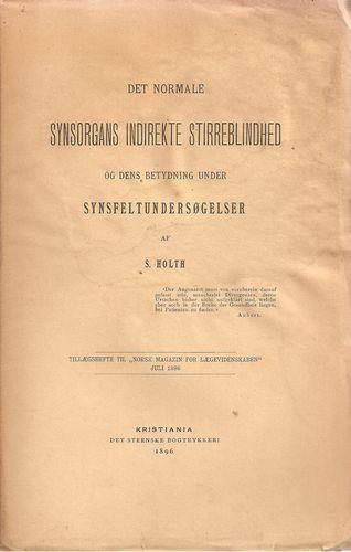 Det normale Synsorgans Indirekte Stirreblindhed og dens betydning under Synsfeltundersøgelser