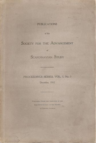 Publications of the Society for the Advancement of Scandinavian Study…