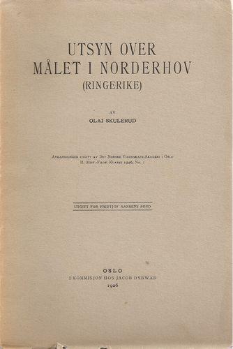 Utsyn over målet i Norderhov