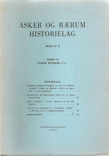 Asker og Bærum historielag. Skrift nr. 6