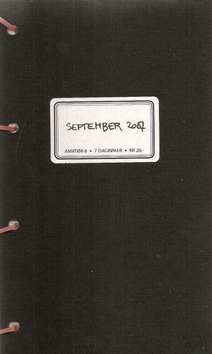 Amatør #8 7 dagbøker September 2007