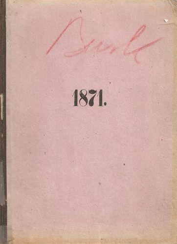 Buskeruds Amtaformandskabs Forhandlinger i Aaret 1871 med Anhang