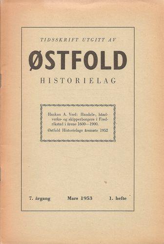 Tidsskrift utgitt av ØSTFOLD Historielag. Lauritz Opstad (red.) 7. årg. 1953 - 1. hefte
