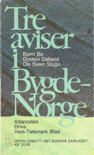 Tre aviser i Bygde-Norge. Aftenposten. Driva. Vest-Telemark Blad