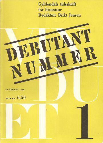 Gyldendals tidsskrift for litteratur. Debutantnummer
