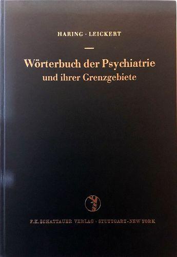 Wörterbuch der Psychiatrie und ihrer Grenzgebiete