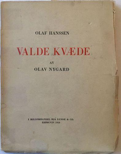 Olaf Hanssen: Valde kvæde av Olav Nygard