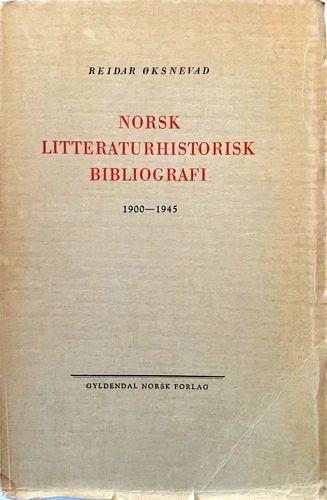 Norsk litteraturhistorisk bibliografi 1900-1945