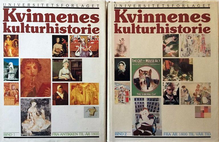 Kvinnenes kulturhistorie. I-II. Redaktører Kari Vogt - Sissel Lie - Karin Gundersen - Jorunn Bjørgum