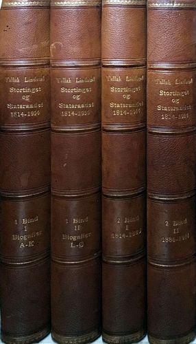 Stortinget og Statsraadet 1814-1914. Efter offentlig Foranstaltning utgit av… I-II i fire band
