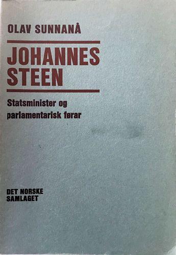 Johannes Steen. Statsminister og parlamentarisk førar