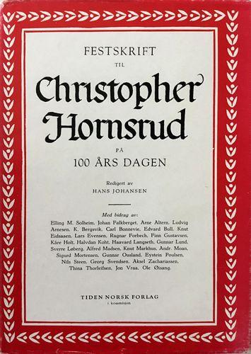Festskrift til Christopher Hornsrud på 100 årsdagen 15. november 1959
