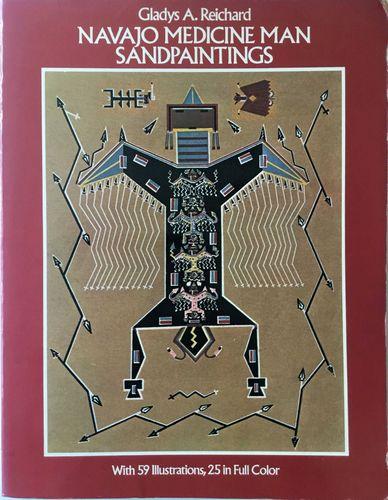 Navajo Medicine Man. Sandpaintings