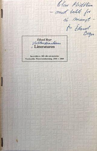 Litteraturen. Særtrykk av: Stå vakt om naturen. Vestlandske Naturvernforening 1918-1968