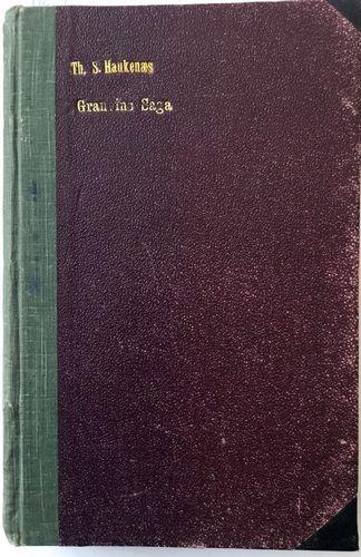 Granvins Saga. Første Del. Med Forfatterens Portæt