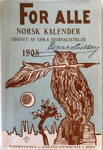 For alle 1987. Norsk kalender. Udgivet med almanakforlagets tilladelse af Chr.a journalistklub ved Karl Fischer. 11te aargang