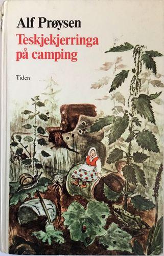 Teskjekjerringa på camping. Med tegninger av Borghild Rud