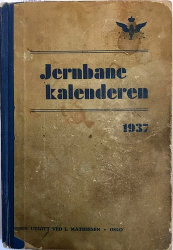 Jernbanekalenderen. 1937