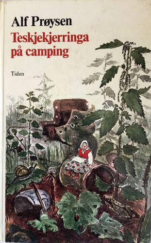 Teskjekjerringa på camping. Med tegninger av Borghild Rud. 2. opplag