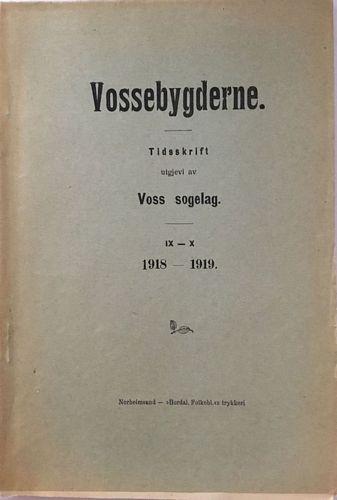 Tidsskrift utgjevi av Voss sogelag IX - X