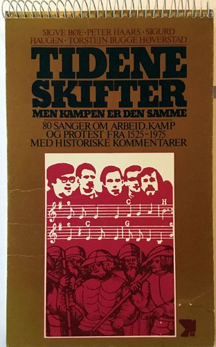 Tidene skifter men kampen er den samme. 80 sanger om arbeid, kamp og protest fra 125-1975 med politiske kommentarer. Notener er tegnet av Turid Brein