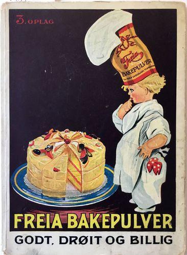 Freia Bakepulver. 3. oplag. (Oppskriftbok)