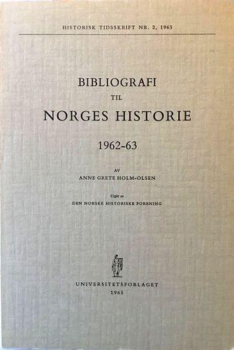 Bibliografi til Norges Historie 1962-63