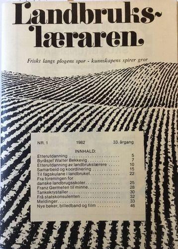 Nr. 1. 1982. 33. årgang
